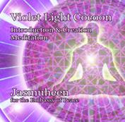 violet light cocoon creation meditation